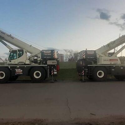 Grúas 100 ton en Refinería YPF La Plata